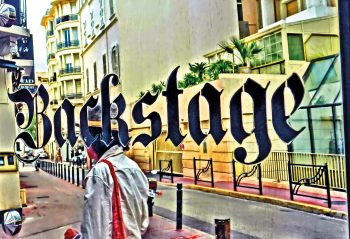 Passant vor Backstage, Rue Victor Cousin, Cannes