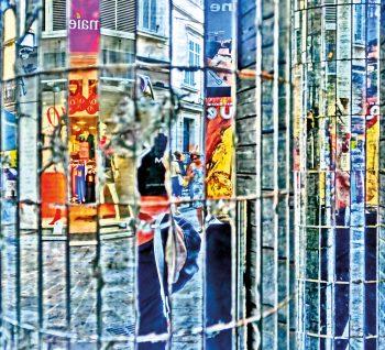 Spiegelsäule, MONOPRIX, Rue du Maréchal Foch, Cannes