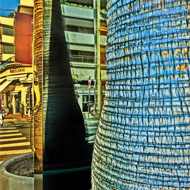 Spiegelung, Säule, Promenade de la Croisette, Cannes