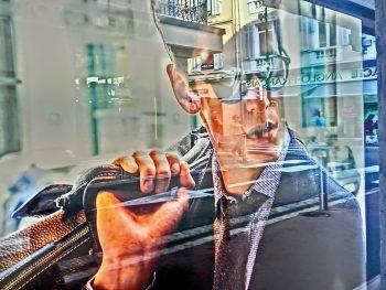 Spiegelung, Schaufenster, Cannes